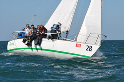 J/24s sailing Europeans off Crouesty de Arzon, France