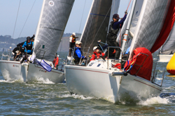 J/105s sailing San Francisco JFest