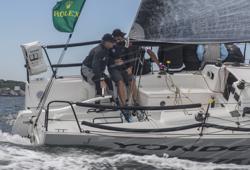 J/88 sailing upwind