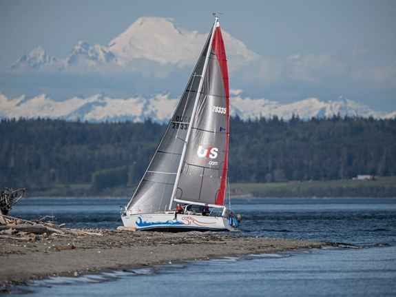 J/35 sailing off Seattle, WA