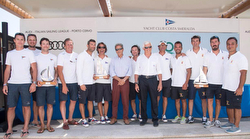 Italian J/70 sailing league winners podium
