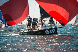 J/88 fleet sailing Block Island