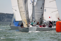 J/80s sailing UK Nationals- Lymington, England