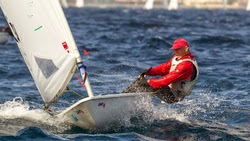 Canadian Andy Roy sailing Laser