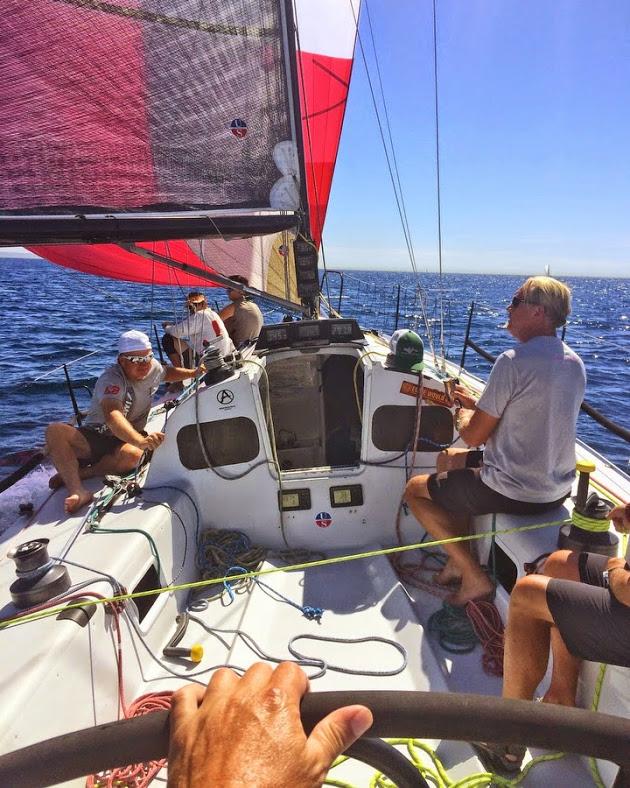J/125 Timeshaver sailing San Diego to Ensenada Race