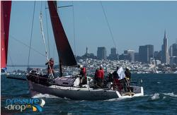 J/125 sailing on San Francisco Bay