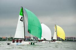 J/70s sailing Netherlands Sailing League off Monnickendam