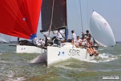 J/111 sailing J/Cup
