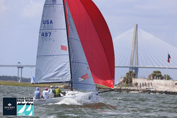 J/70 sailing Charleston harbor