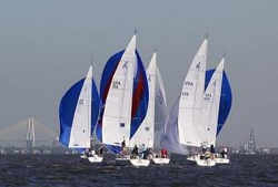J/105 sailing Houston North Americans