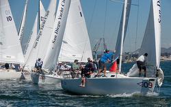 J/105s sailing Masters off San Diego