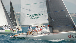 J/80 sailing Campeonato de Espana off Sotogrande, Spain