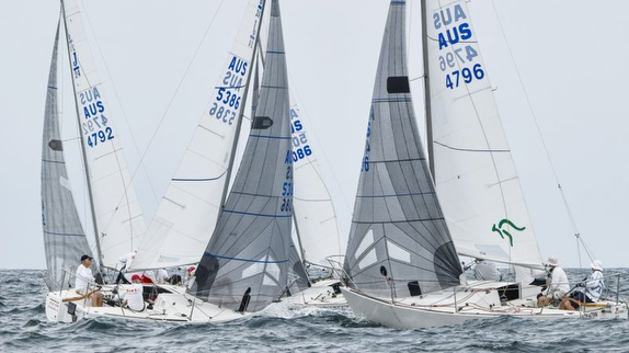 J/24s sailing off Sydney, Australia