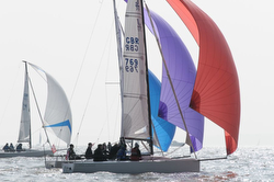 J/70s sailing Helly Hansen Warsash spring series