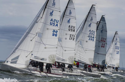 J/70s racing Cedar Point regatta