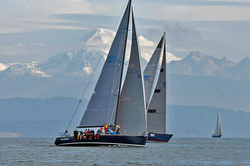 J/145 sailing off Seattle, WA