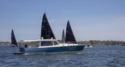 MJM Yachts 50z ZING as Race Committe boat