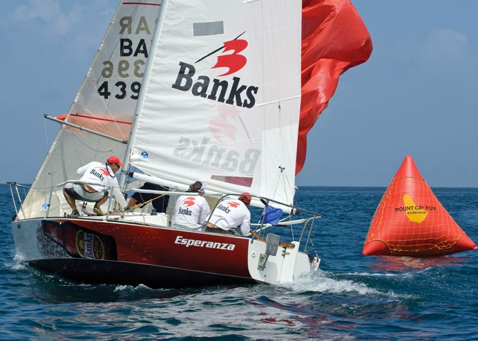 J/24 sailing Barbados nationals