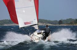 J/70 planing fast off Sweden