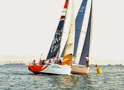 J/122E sailing off Mumbai, India- rounding mark