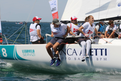 J/70 Italy sailing league women sailors