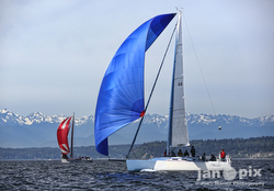 J/109 sailing off Seattle