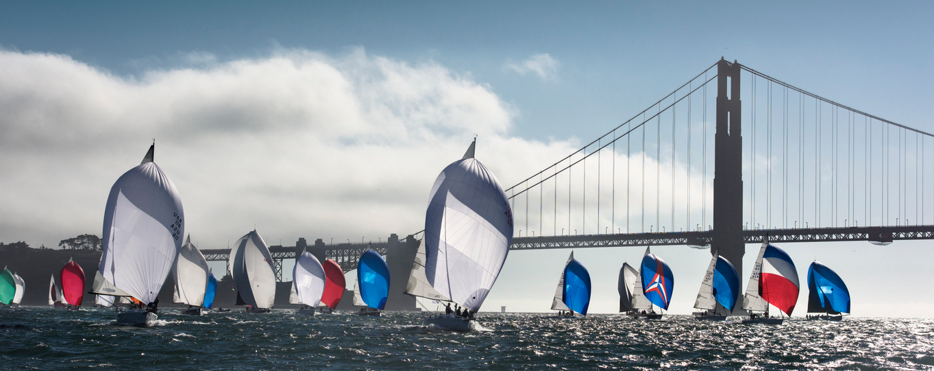 J/105 sailing on San Francisco Bay