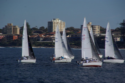 J/24s sailing off Sydney, Australia in Cronulla Sailing Club regatta