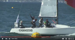 J/88 Courageous sailing San Francisco Bay