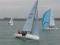 J/70s sailing Warsash series on Solent