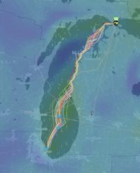 Chicago Mackinac tracking