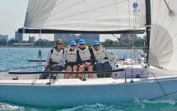 J/70 women sailors- Stephanie Roble