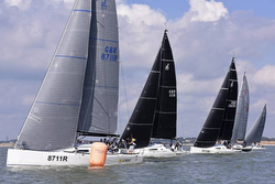 J/111 sailboats- sailing UK Nationals on Solent