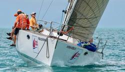 J/41 sailing fast upwind - Samui Regatta- Thailand