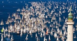 JBoats sailing Barcolana race off Trieste, Italy