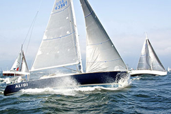 J/120 sailing Block Island race