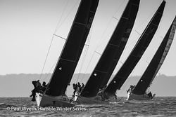 J/88s sailing Hamble Series- England