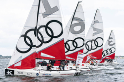 J/70s sailing Women's SAILING Champions League- Kiel, Germany