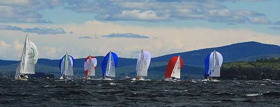 J/80s sailing North Americans on Lake Winnipesaukee, NH