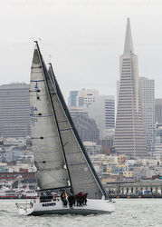 J/111s sailing on San Francisco city front course