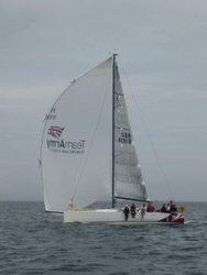 J/111 sailing Irish offshore series