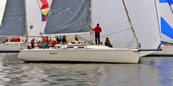 J/109 Tantivy sailing Vashon Island race off Seattle
