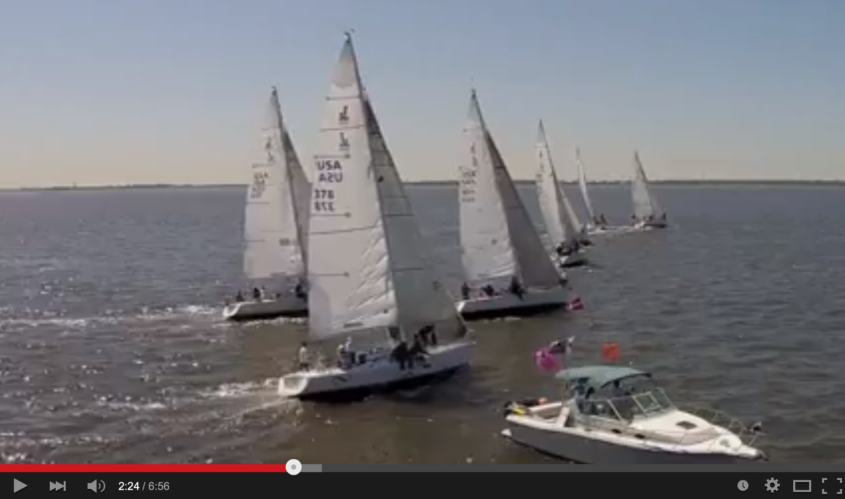J/105s sailing Texas Invitational