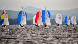 J/22 sailboat- sailing with spinnakers on Lake George, New York