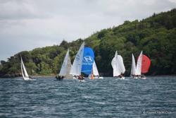J/24 sailing at Limerick, Ireland