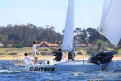 J/24 Carrera sailing Punta del Este, Uruguay