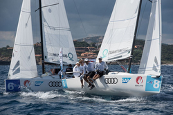 J/70s off Porto Cervo, Sardinia- Sailing Champions League