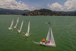J/70 sailing Valle de Bravo, Mexico- Women's Keelboat Worlds