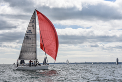 J/109 sailing on Solent, England