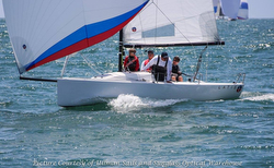 J/70 sailing Yachting Cup off San Diego